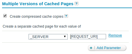 Zend Server Page Caching by Request